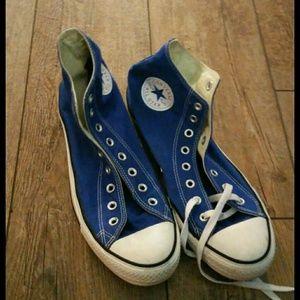 Men's Blue  Converse sneakers shoes size 10